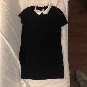 Zara Black Collared Dress